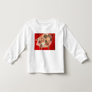 Toddler Long Sleeve T-Shirt with Cute Pig Design