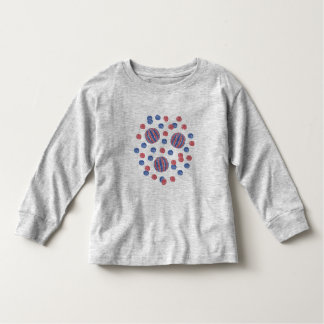 Toddler long sleeve T-shirt with red-blue balls