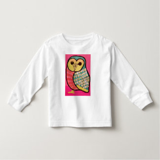 Toddler Long Sleeve T-Shirt with Wise Owl Design