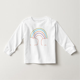 Toddler Long Sleeve Tee Rainbow top