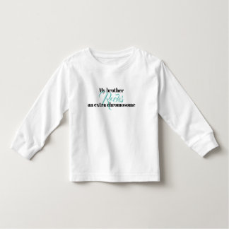 "Toddler long sleeve Tshirt ""My brother rocks"