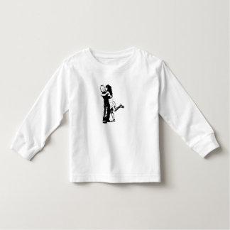 Toddler Long Sleeve, White - girl/kids design Toddler T-shirt