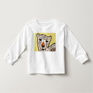 Toddler Long Sleeve White T-Shirt with Tiger Cub