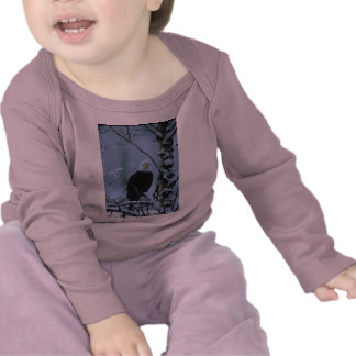 Toddler LS T / Bald Eagle in Winter Snow Shirt