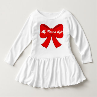 Toddler My Precious Gift Ruffle Dress
