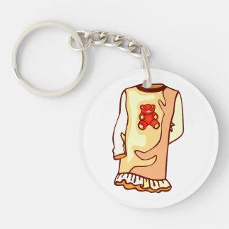 Toddler nighgown with teddy bear keychain