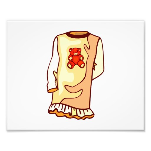 Toddler nighgown with teddy bear photo print