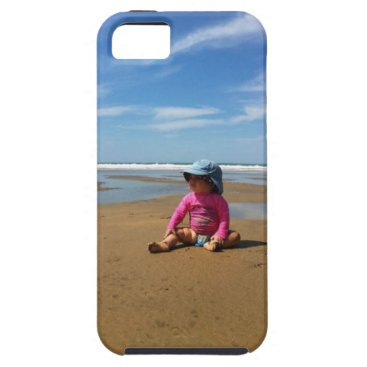 Beach Themed Toddler on Beach iPhone 5 Case