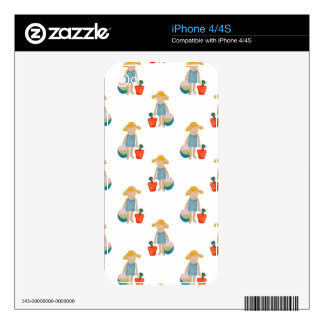 Toddler on Summer Beach Holiday Baby Girl iPhone 4 Skins