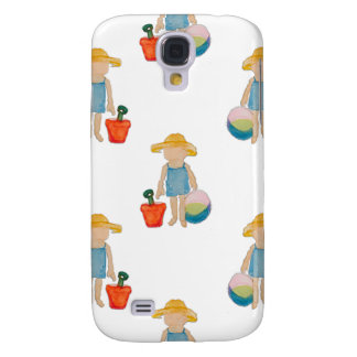 Toddler on Summer Beach Holiday Baby Girl Samsung Galaxy S4 Cases