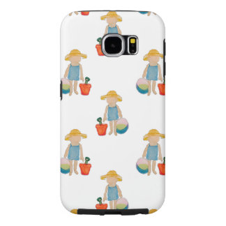 Toddler on Summer Beach Holiday Baby Girl Samsung Galaxy S6 Cases
