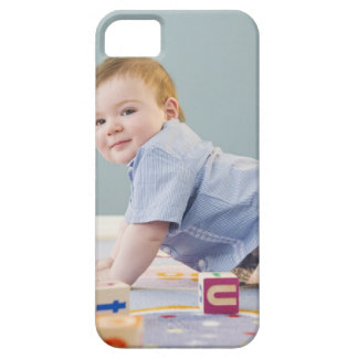 Toddler playing with blocks iPhone 5 cases