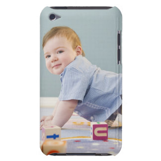 Toddler playing with blocks iPod Case-Mate case