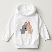 Toddler Pullover Hoodie with bunnies pattern