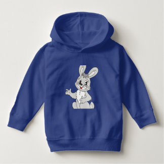 toddler pullover hoodie with bunny image.