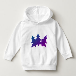 Toddler Pullover Hoodie with Pine Trees
