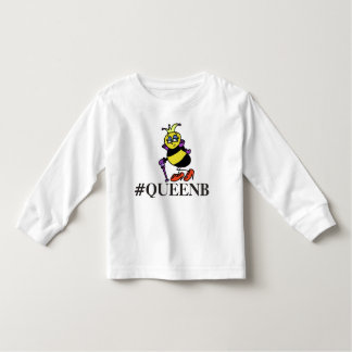 Toddler queen bee hashtag shirt