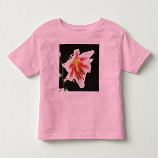 Toddler Ringer Girls Flower Shirt