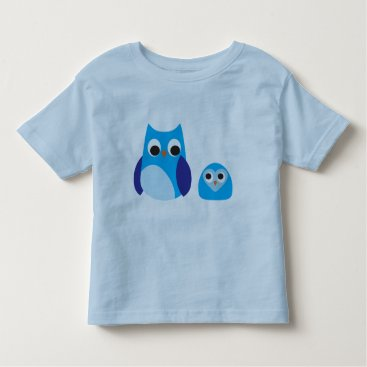 Halloween Themed Toddler Ringer T-Shirt, Light Blue/Navy CUTE OWLS Toddler T-shirt