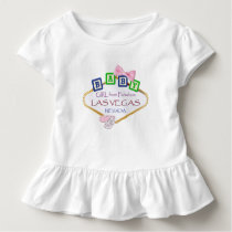 Toddler Ruffle Baby Girl from Las Vegas Tee