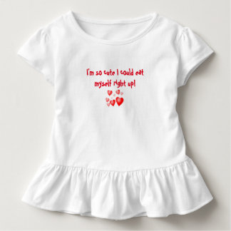 "TODDLER RUFFLE DRESS ""IM SO CUTE I COULD...."""