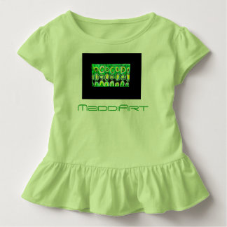 Toddler Ruffle Tee green and black design