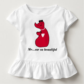 Toddler Ruffle Tee Kitty Cat T-shirt