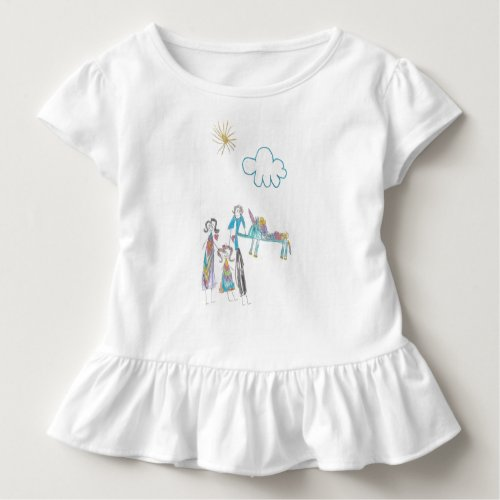 Toddler Ruffle Tee with kids picture of family