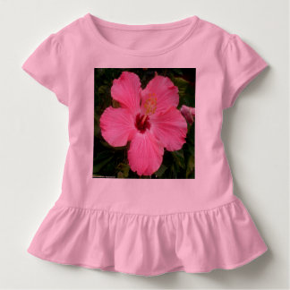 Toddler Ruffle Tee with pink blossom