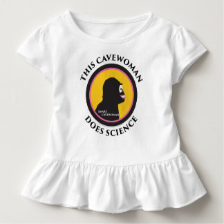 Toddler Ruffle This Smart Cavewoman Does Science Toddler T-shirt