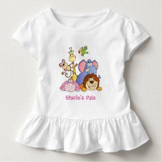 Toddler Ruffled Tee--Jungle Animals Toddler T-shirt