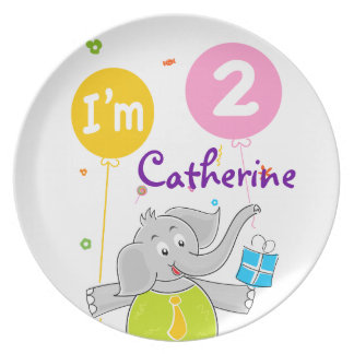 Toddler s 2nd Birthday Dinner Plate