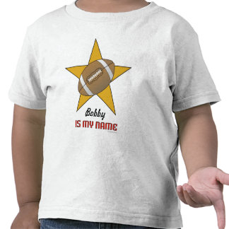 Toddler s Personalized Football Star T-shirt
