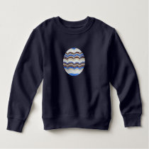Toddler sweatshirt with blue mosaic
