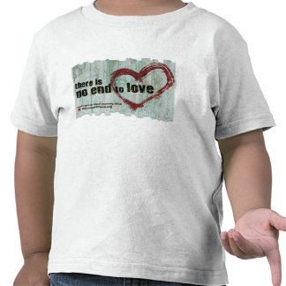 """Toddler T-shirt AWF """"There is no end to love"""""""