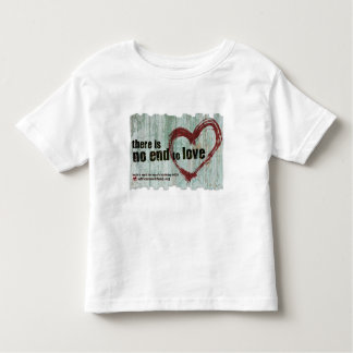 "Toddler T-shirt AWF ""There is no end to love"""