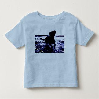 Toddler t-shirt black lab playing in water