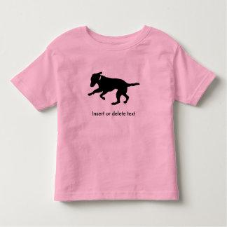 Toddler t-shirt playful black lab