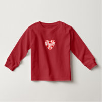 Toddler T-Shirt-Valentine Hearts Toddler T-shirt