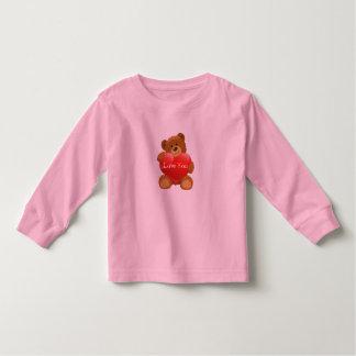 Toddler T-Shirt-Valentine Teddy Bear Toddler T-shirt