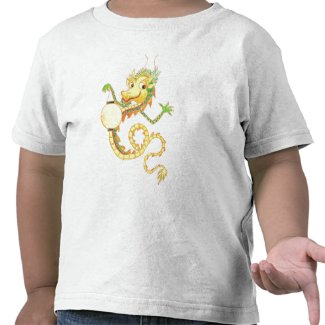 Toddler T-shirt with Chinese Dragon and Lantern shirt