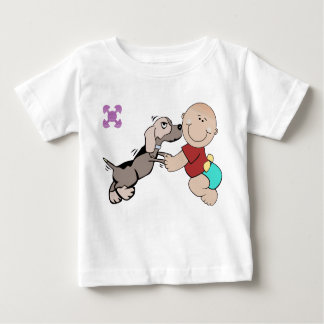 Toddler T shirt With Dog - Baby Friendship design