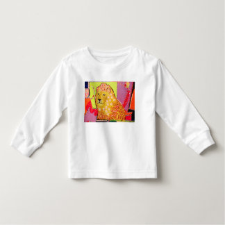 Toddler T-Shirt with Long Sleeves and Bright Lion
