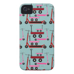 Toddler Transportation Red Pink Scooters Wagons iPhone 4 Cover