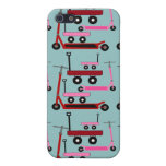 Toddler Transportation Red Pink Scooters Wagons Cases For iPhone 5