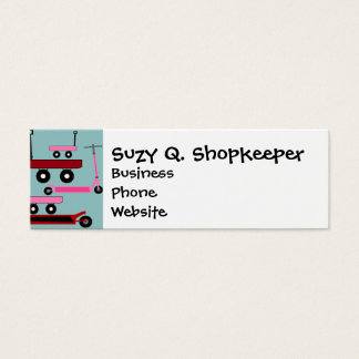 Toddler Transportation Red Pink Scooters Wagons Mini Business Card