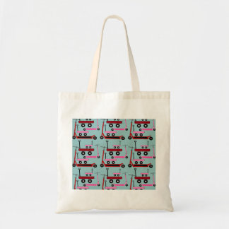 Toddler Transportation Red Pink Scooters Wagons Tote Bag