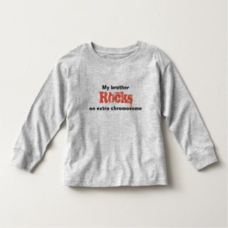 "Toddler Tshirt ""my brother rocks an extra"