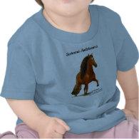 Toddler Tshirt, Red Peruvian Paso