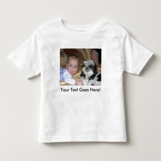 Toddler Twofer With Custom Image and Text Toddler T-shirt